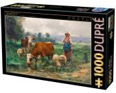 Puzzle Pastýřka se svým stádem