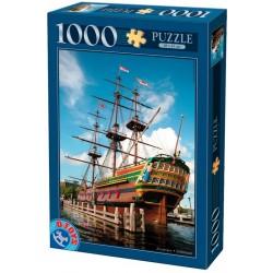 Puzzle Historická plachetnice v Amsterdamu