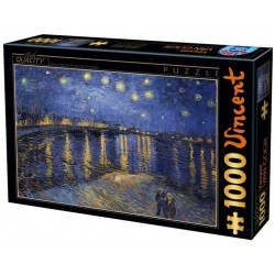Puzzle Hvězdná noc nad řekou