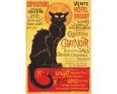 Puzzle Plakát Černá kočka