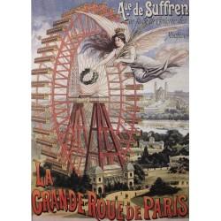 Puzzle Plakát Velké kolo v Paříži