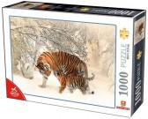 Puzzle Tygři ve sněhu