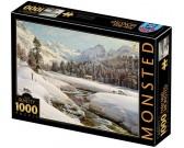 Puzzle Zimní krajina ve Švýcarsku