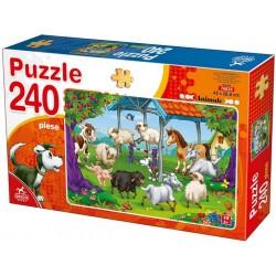 Puzzle Zábava na farmě - DĚTSKÉ PUZZLE