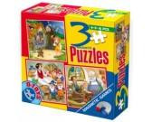 Puzzle Perníková Chaloupka, Sněhurka, Pinokio- MAGNETICKÉ PUZZLE