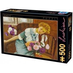Puzzle Lorica s kyticí chryzantém