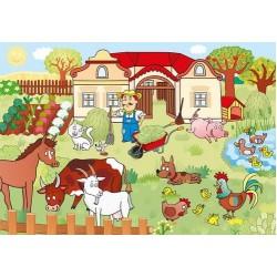 Puzzle Zvířata na dvorku - DĚTSKÉ PUZZLE