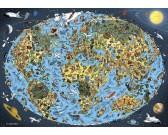 Puzzle Kreslená mapa