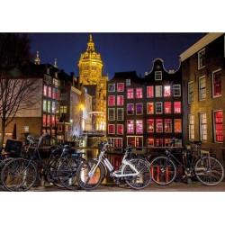 Puzzle Noční Amsterdam - SVÍTÍCÍ PUZZLE