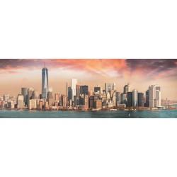 Puzzle Manhattan za soumraku - PANORAMATICKÉ PUZZLE