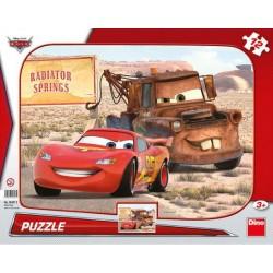 Puzzle Cars - Blesk a Burák - DESKOVÉ PUZZLE