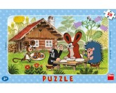 Puzzle Krtek na návštěvě - DESKOVÉ PUZZLE