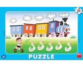 Puzzle Veselá mašinka - DESKOVÉ PUZZLE