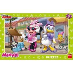 Puzzle Minnie na Montmartru - DESKOVÉ PUZZLE