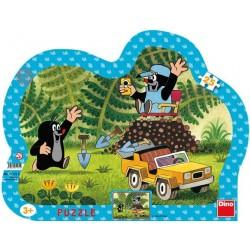 Puzzle Krtek se žlutým autem - KONTURA PUZZLE