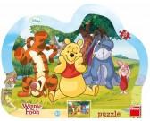 Puzzle Medvídek Pú - schovávaná - KONTURA PUZZLE