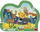 Puzzle Lesní zvířátka - KONTURA PUZZLE