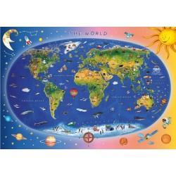 Puzzle Dětská mapa - DĚTSKÉ PUZZLE