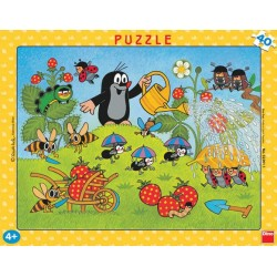 Puzzle Krtek v jahodách - DESKOVÉ PUZZLE
