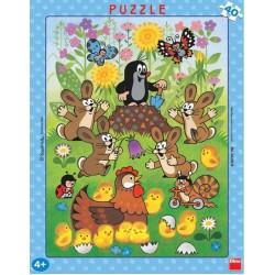 Puzzle Krtek a velikonoce - DESKOVÉ PUZZLE