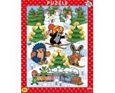 Puzzle Krtek na sněhu - DESKOVÉ PUZZLE