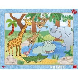 Puzzle Zvířátka v ZOO - DESKOVÉ PUZZLE