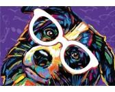 Puzzle Pes s brýlemi