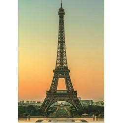 Puzzle Eiffelovka za soumraku