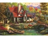 Puzzle Chata u jezera