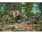 Puzzle Africká džungle