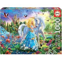 Puzzle Princezna a jednorožec