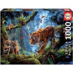 Puzzle Tygři na stromě