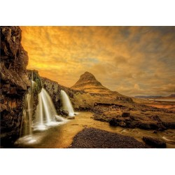 Puzzle Vodopád Kirkjufellsfoss, Island