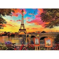 Puzzle Západ slunce v Paříži