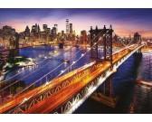Puzzle Manhattan pri západu slunce