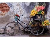 Puzzle Jízdní kolo s květy