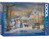 Puzzle Stavba sněhuláka