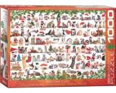 Puzzle Vánoční kočky