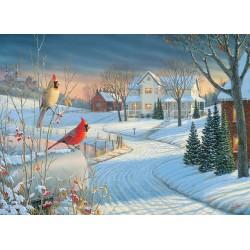 Puzzle Ptáčci v zimě