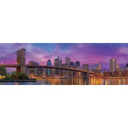 Puzzle Brooklynský most, New York - PANORAMATICKÉ PUZZLE