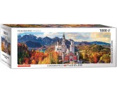 Puzzle Pohled na Neuschwanstein - PANORAMATICKÉ PUZZLE