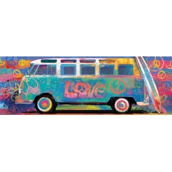 Puzzle Volkswagen bus - PANORAMATICKÉ PUZZLE