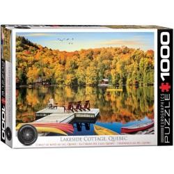 Puzzle Chata u jezera, Quebec