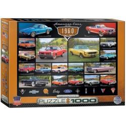 Puzzle Americká auta 60. let