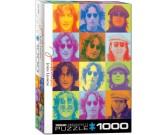 Puzzle John Lennon - barevné portréty