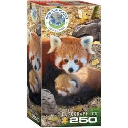 Puzzle Pandy červené