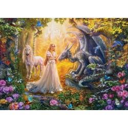 Puzzle Princezna v kouzelné zahradě - XXL PUZZLE