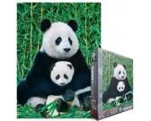 Puzzle Panda s mládětem