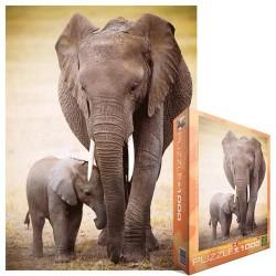 Puzzle Slon s mládětem