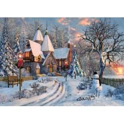 Puzzle Vánoční chata